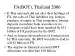fa bot thailand 2006