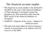 the financial account surplus