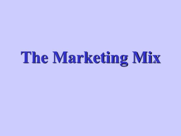 the marketing mix n.