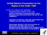 united nations convention on the rights of the child 1989