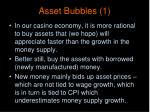asset bubbles 1
