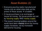 asset bubbles 2