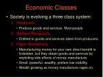 economic classes