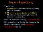 modern base money