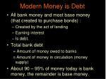 modern money is debt