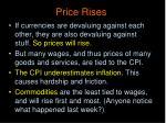 price rises