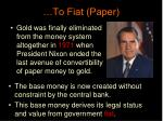 to fiat paper