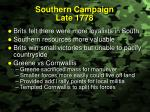 southern campaign late 1778