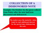 collection of a dishonored note