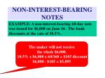 non interest bearing notes