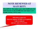 note renewed at maturity81