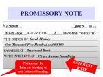 promissory note17
