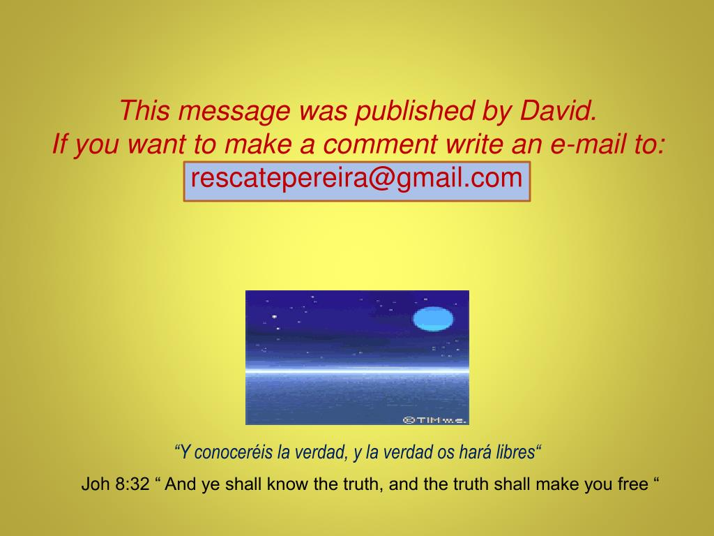 This message was published by David.