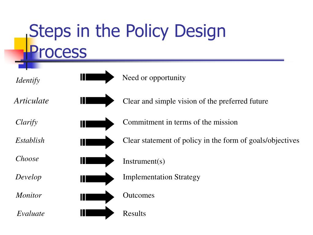 Steps in the Policy Design Process