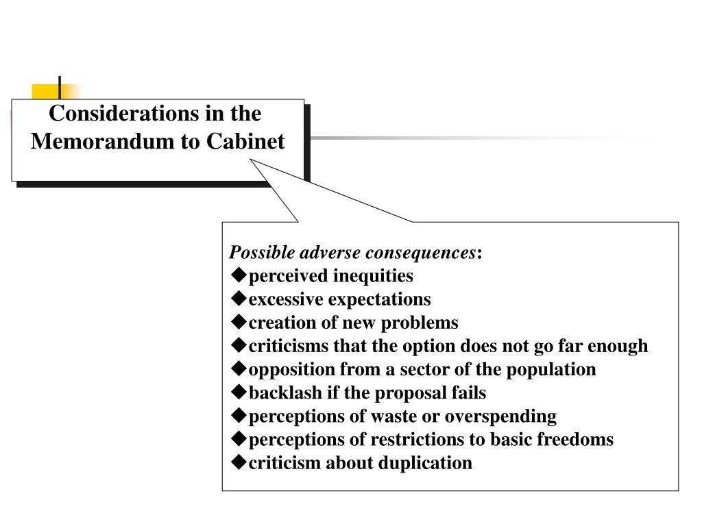 Considerations in the