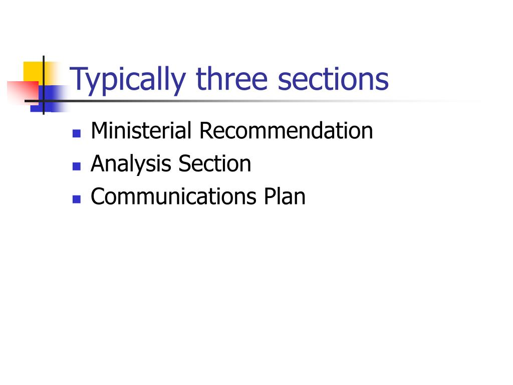 Typically three sections