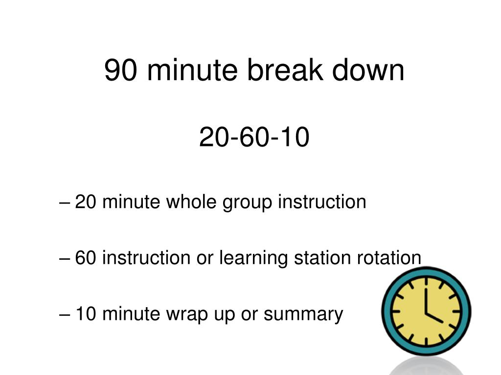 90 minute break down