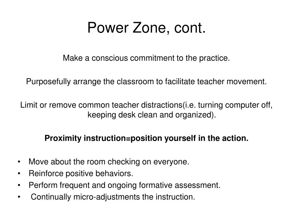 Power Zone, cont.