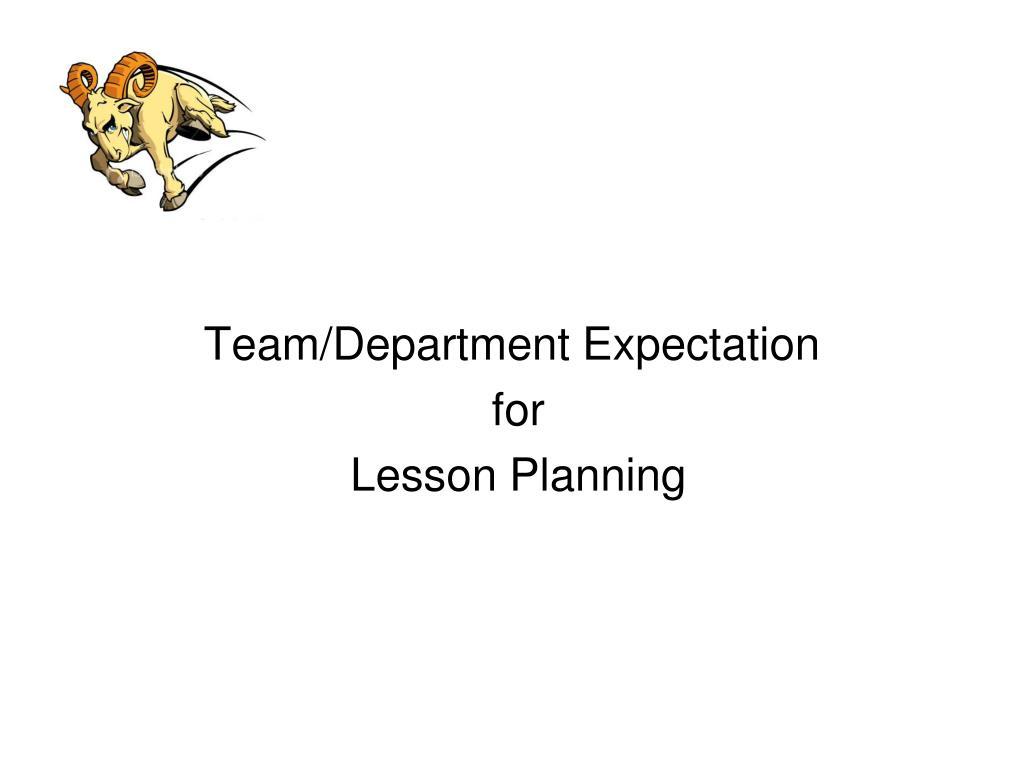 Team/Department Expectation