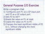 general purpose i o exercise