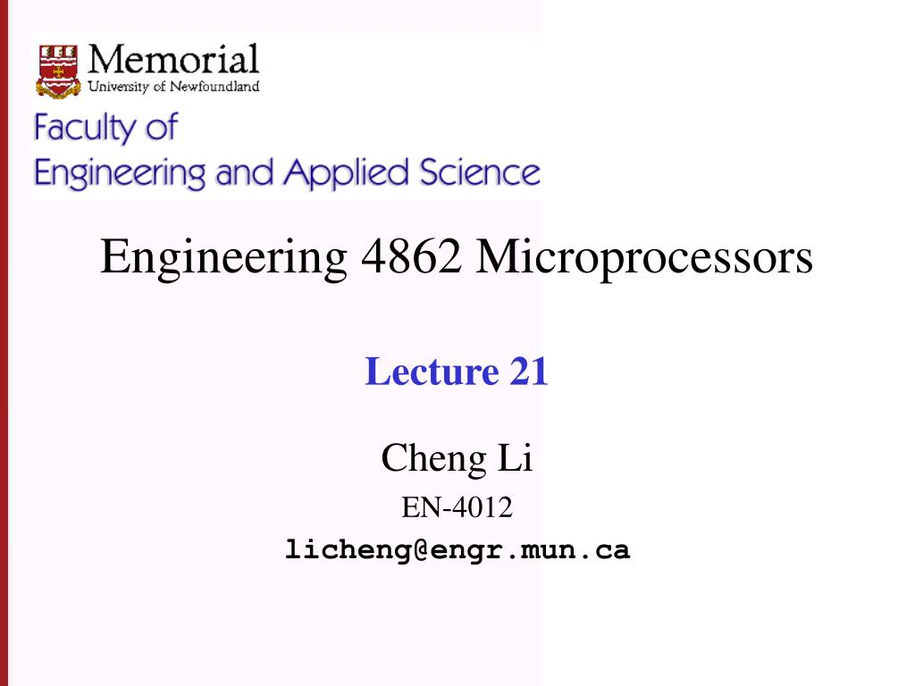 engineering 4862 microprocessors lecture 21 l.