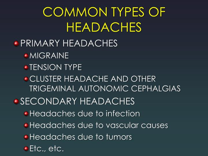 Common types of headaches