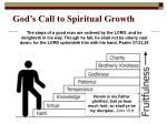 god s call to spiritual growth
