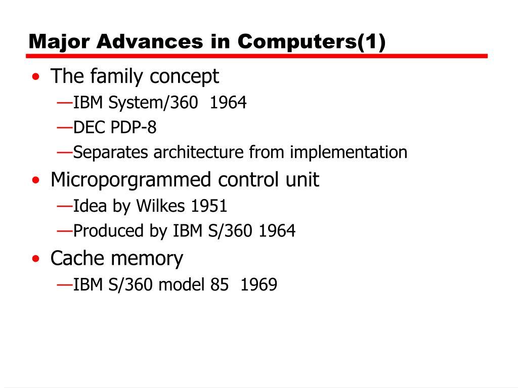 Major Advances in Computers(1)