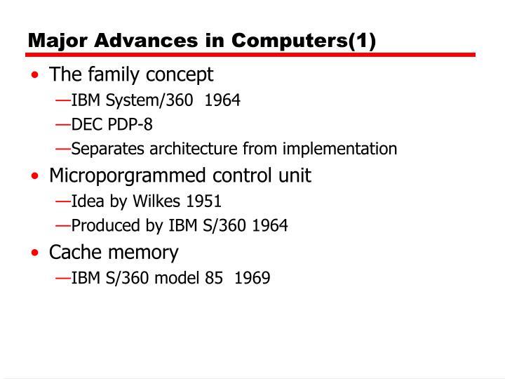 Major advances in computers 1
