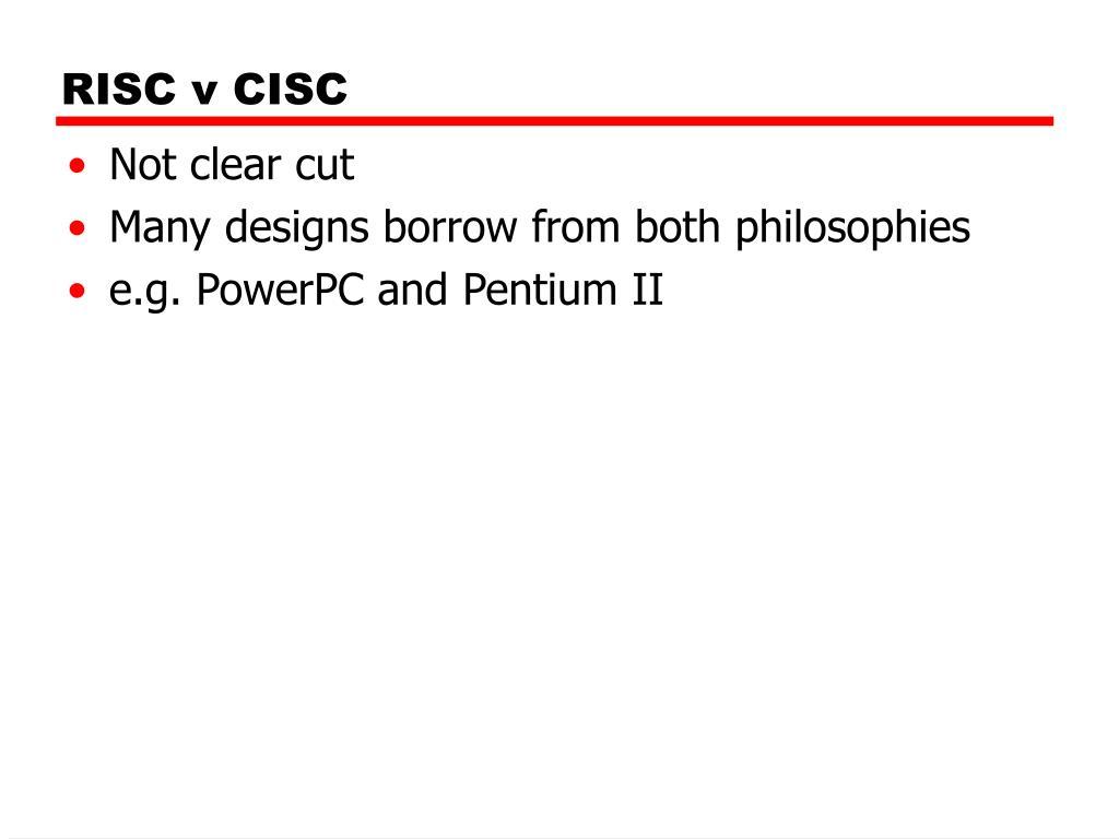 RISC v CISC