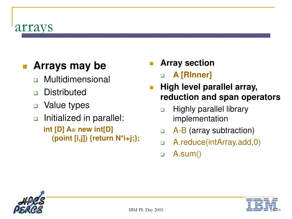 Array section