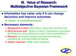 iii value of research multiobjective bayesian framework23