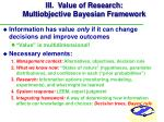 iii value of research multiobjective bayesian framework24