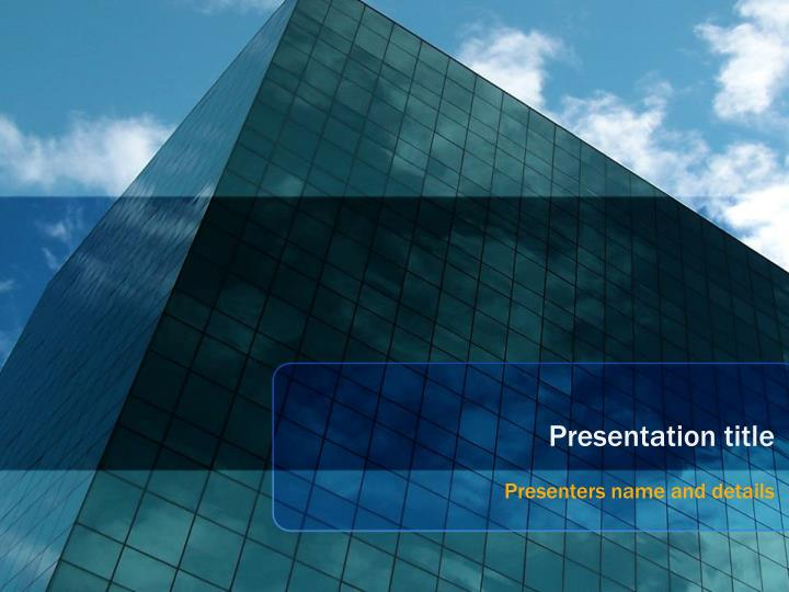 Ppt Glass Building Powerpoint Template Powerpoint Presentation