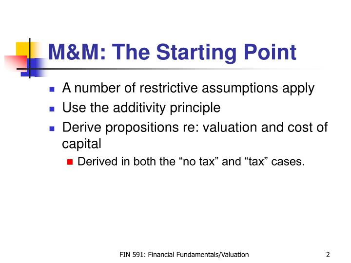 M m the starting point