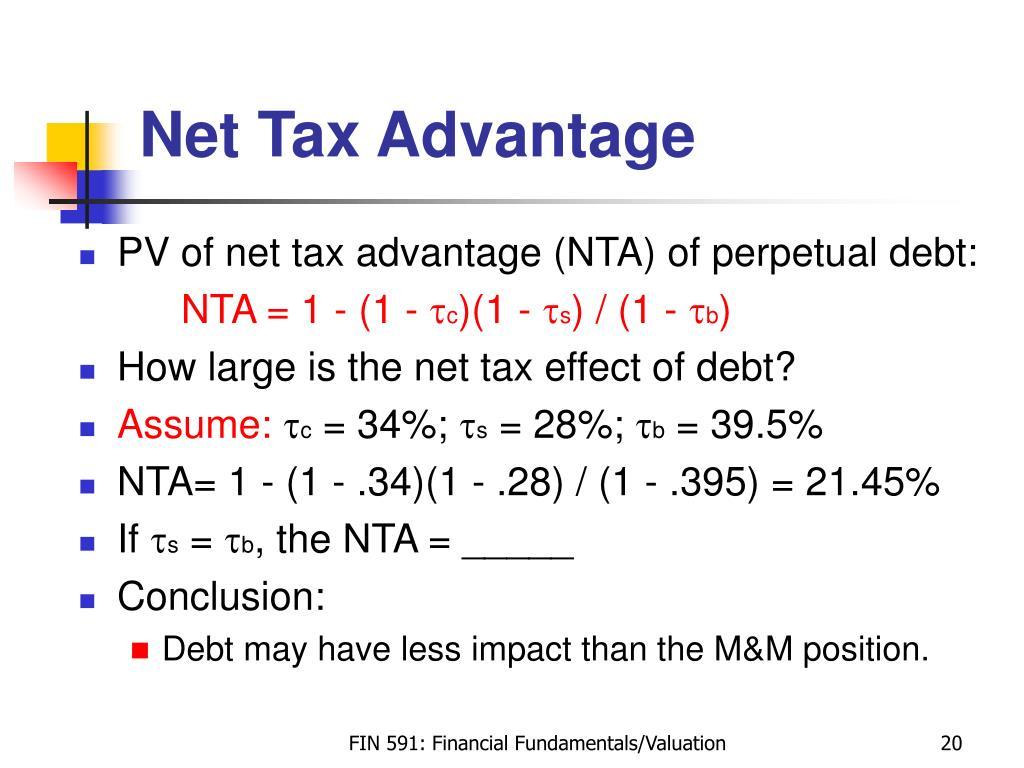 Net Tax Advantage