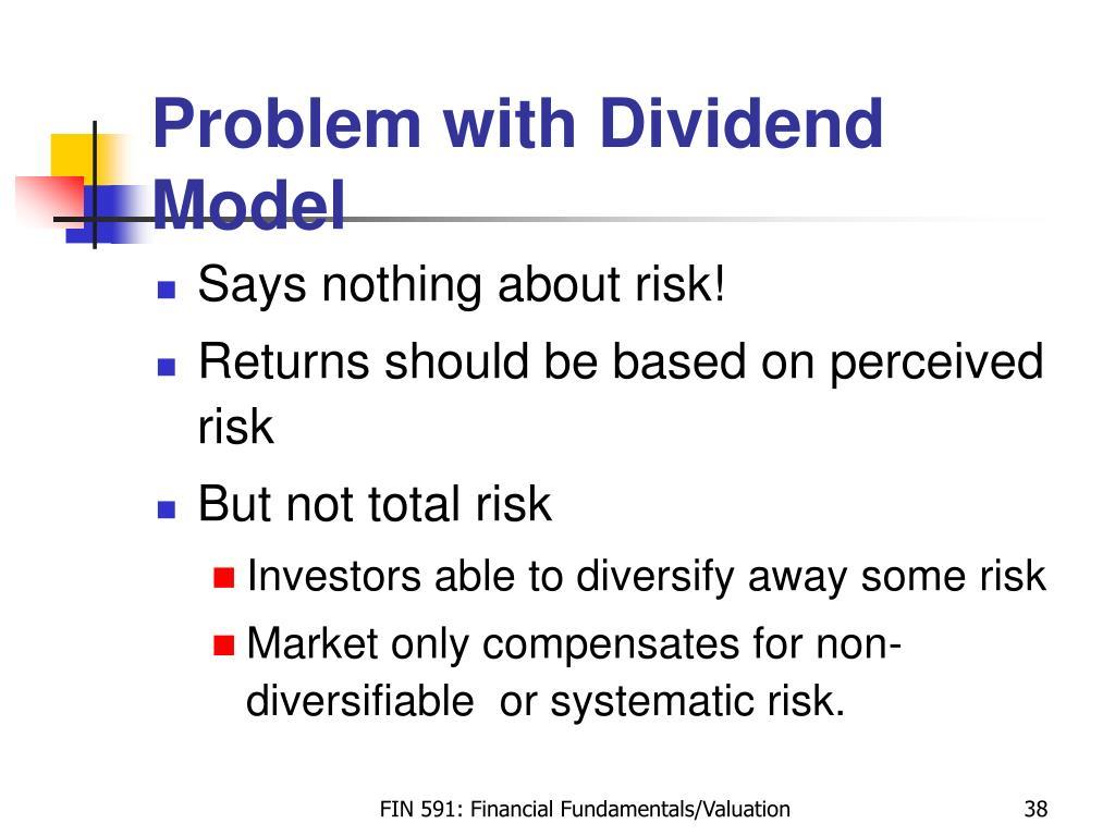 Problem with Dividend Model