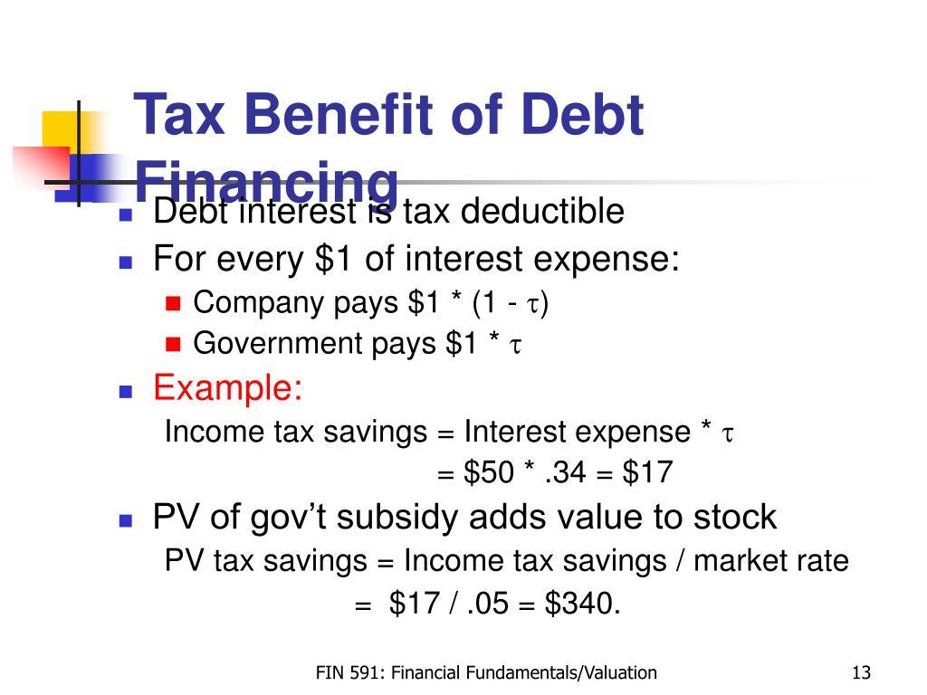 Tax Benefit of Debt Financing