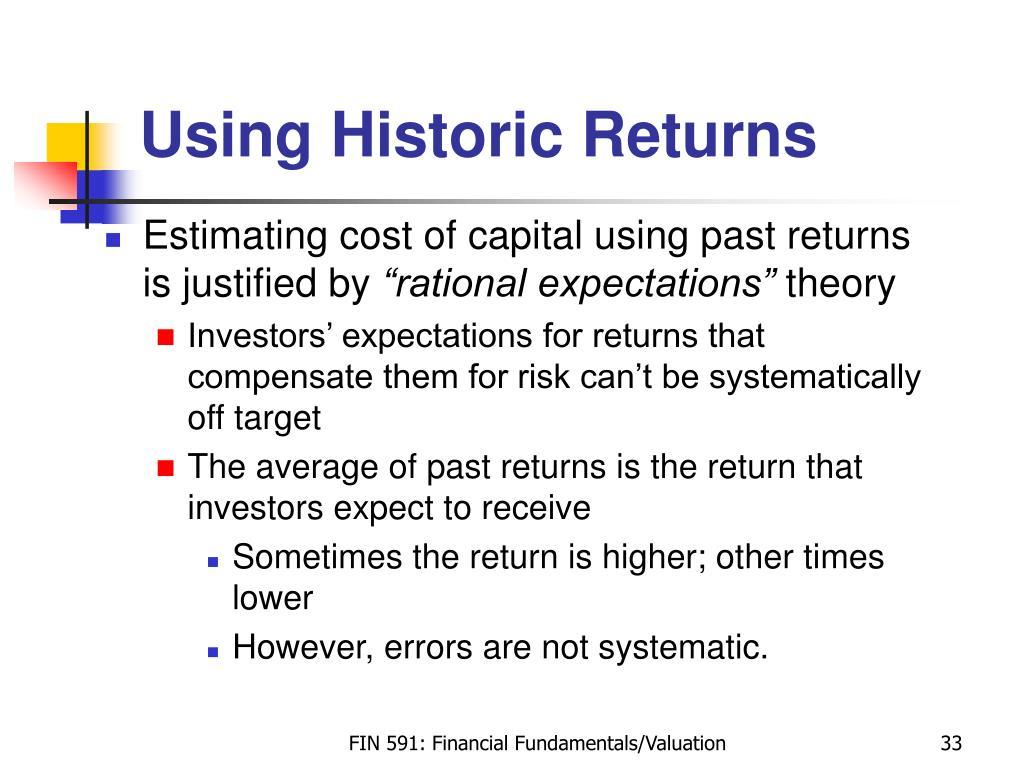 Using Historic Returns