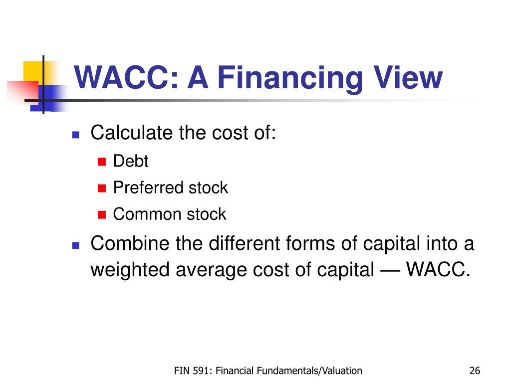 WACC: A Financing View