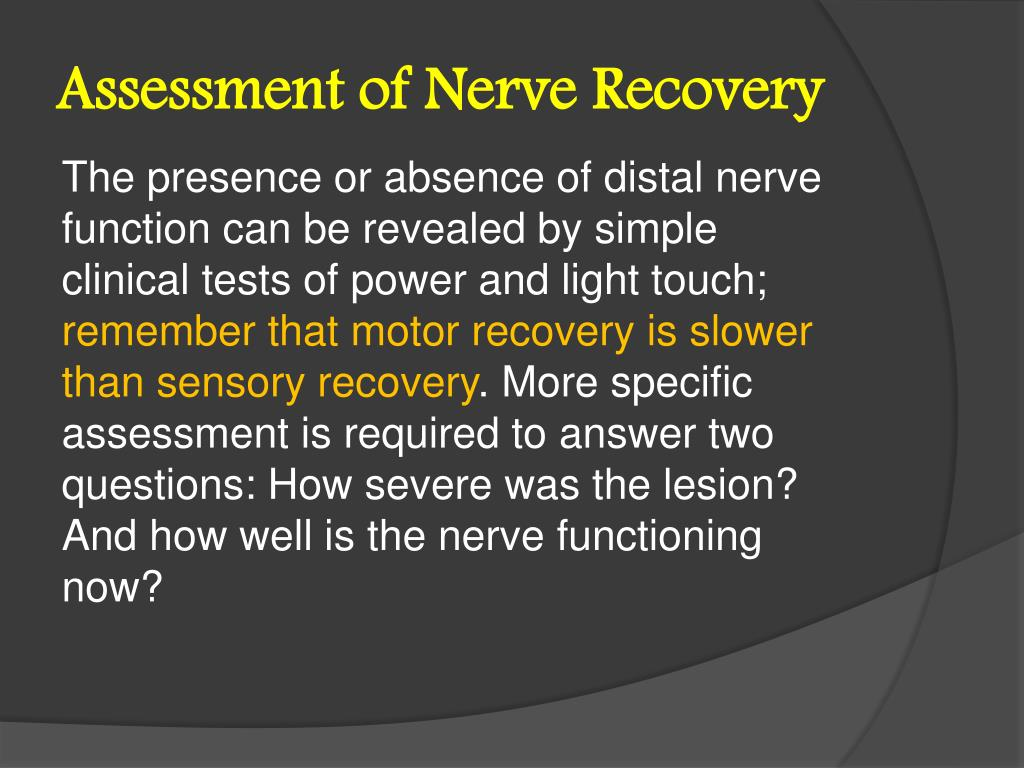 Assessment of Nerve Recovery