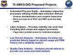 76 amxg qiq proposed projects