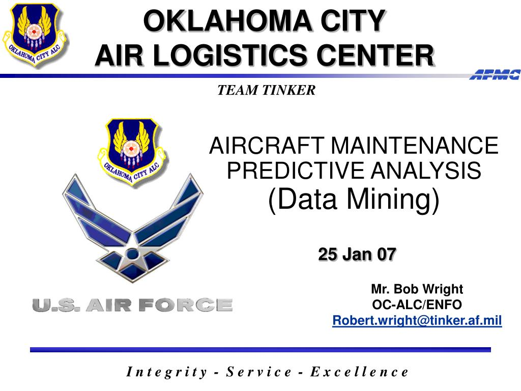 aircraft maintenance predictive analysis data mining 25 jan 07 l.