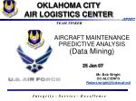 aircraft maintenance predictive analysis data mining 25 jan 07