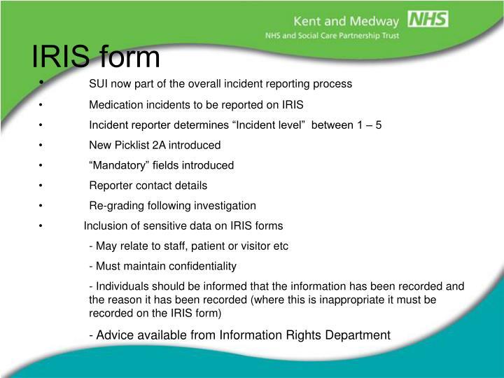 iris incident report - Isken kaptanband co