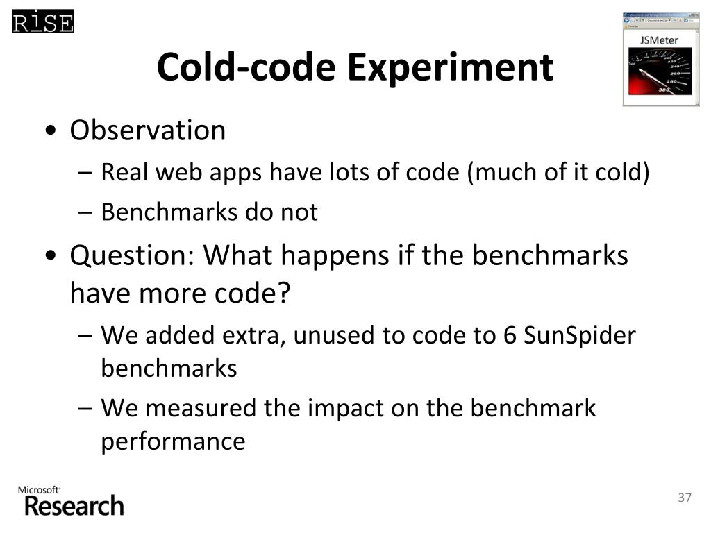 Cold-code Experiment