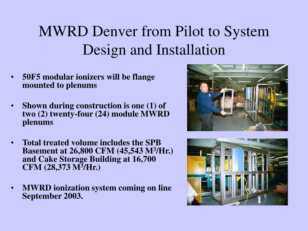 MWRD Denver from Pilot to System Design and Installation