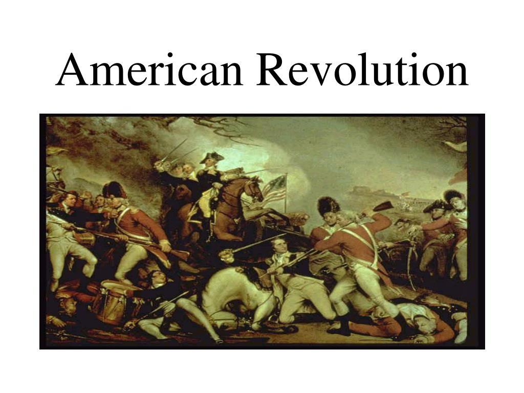 the american revolution 3 essay