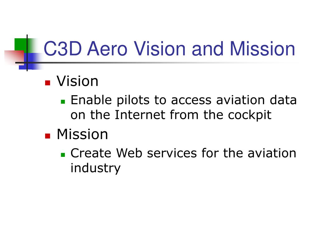 C3D Aero Vision and Mission