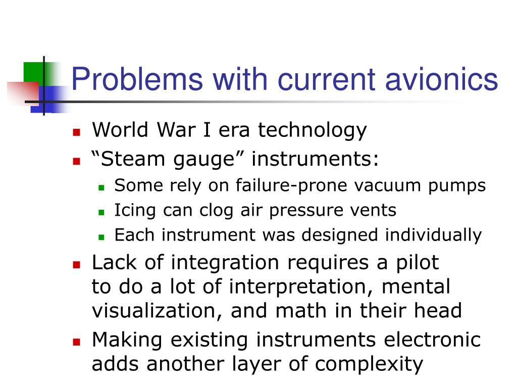 Problems with current avionics